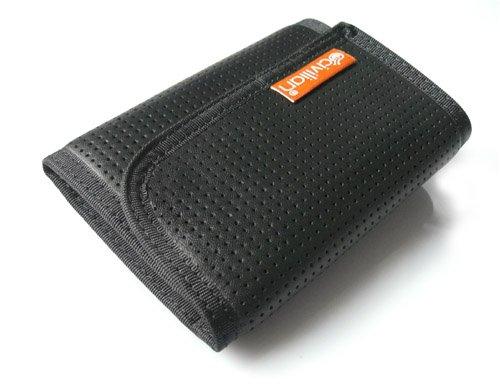 Civilian Lab Men's Tri-Fold Leather Clip Wallet - Black