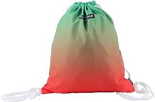 MIAOZHUOER Printed Drawstring Bag String Gym Backpack Water Resistant Lightweight String Sport Yoga Hiking Beach Bag for Teens,Boy,girl