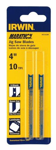 IRWIN 3071410D U Shank Down Cutting 4' 10 TPI Carbon Fleam Ground Jig Saw Blade