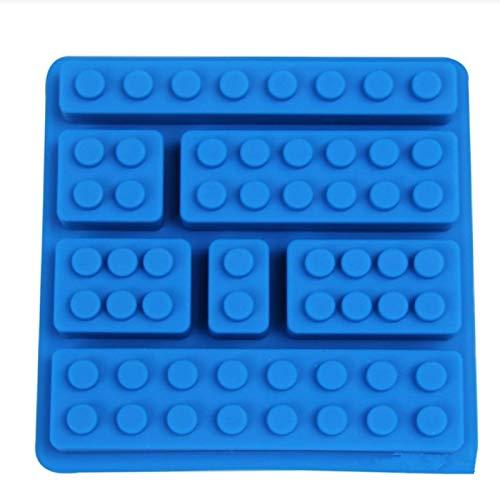 1 Uds bonitos bloques de ladrillos Lego de 10 agujeros en forma Rectangular DIY Chocolate molde de silicona bandeja de cubitos de hielo herramientas para tartas moldes de Fondant