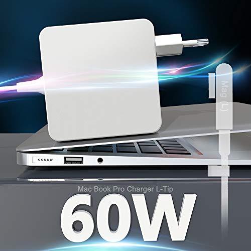 """Eletrand Cargador Macbook Pro L-Tip 60W Adaptador de Corriente para Mac Book Pro/Air Compatible con Mac Book 11""""y 13"""" Pulgadas Antes de 2012 Mid (2009 2010 2011 2012Mid), Funciona con 45W / 60W"""
