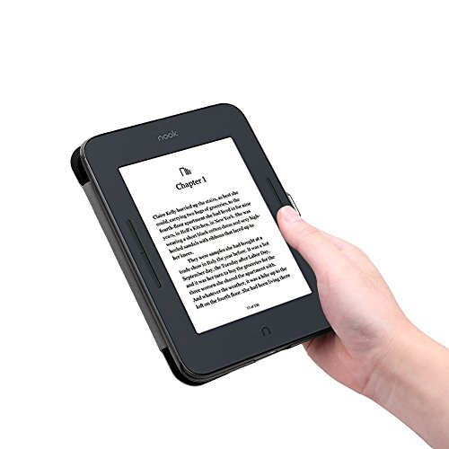 Fintie SlimShell Case for Nook GlowLight 3, Ultra Thin and Lightweight PU Leather Protective Cover for Barnes and Noble Nook GlowLight 3 eReader 2017 Release Model BNRV520, Black