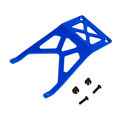 Stampede 1:10 Aluminum Alloy Front Skid Plate Hop Up Upgrade, Blue by Atomik RC - Replaces Part 3623