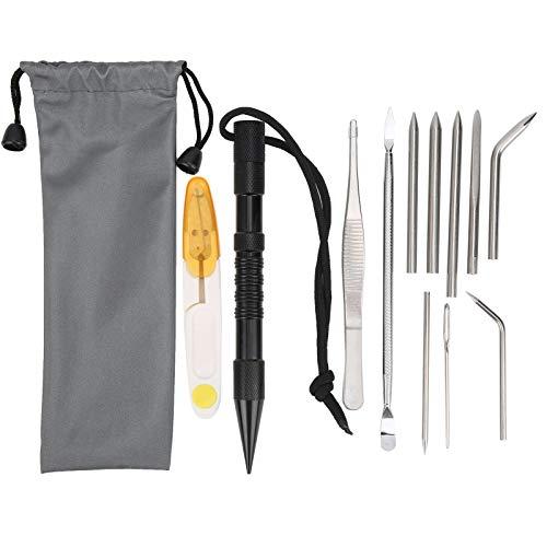 Accesorios de paracord, agujas de cable de paracaídas, herramienta de camping, pulseras, herramienta de tejer para pulsera, paracaídas para acampar al aire libre