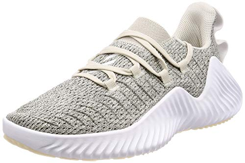 Adidas Alphabounce Trainer W, Zapatillas de Gimnasia Mujer, Blanco (Raw White/FTWR White/Grey Three F17 Raw White/FTWR White/Grey Three F17), 44 EU