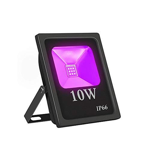 Wlnnes Outdoor-LED-Scheinwerfer LED-Scheinwerfer Lila-Licht 10W hohe Leistung wasserdicht 10W High Power Wasserdicht Ultra Violet Fluorescent Flutlicht-Stadiums-Lampe for Bar-Halloween-Party