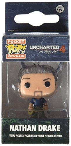 Funko 10299 Uncharted 10299-PDQ Pocket POP Nathan Drake Keychain Figure