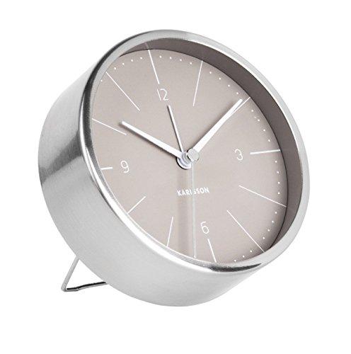 Karlsson Normann Uhr, Tischuhr, Stahl, Grau, One Size