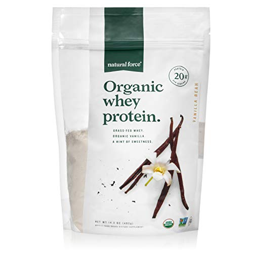 Natural Force Organic Whey Protein Powder 14.2 oz. *Premium Vanilla...