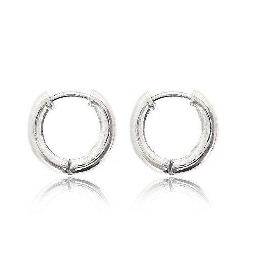 Sovats ronde creoolse oorbel voor vrouwen 925 sterling zilver gerhodineerd - gepolijste creoolse hoepel sleeper oorbellen perfect cadeau voor uw geliefden