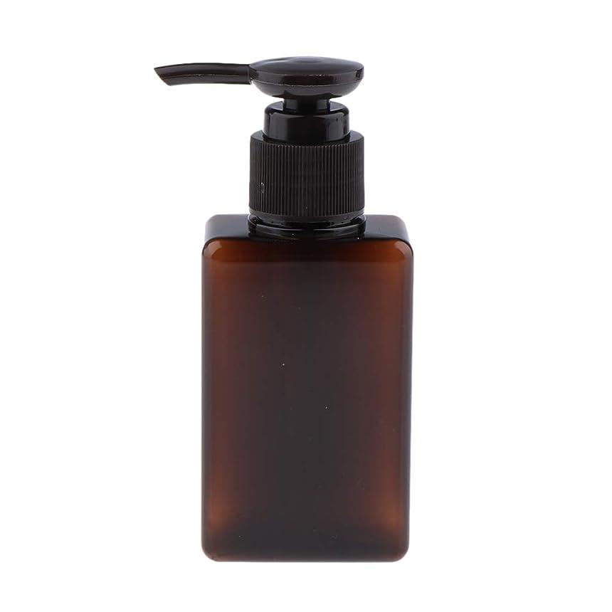 懐疑論トレードライセンスP Prettyia 化粧品ボトル ポンプディスペンサー シャンプー コスメ 詰替え容器 6色選べ - 褐色