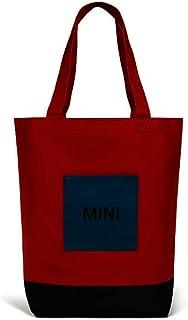 Mini Mini Details zu Original Tricolour Block Shopper Segeltuch Bag Handtasche Umhängetasche Rot