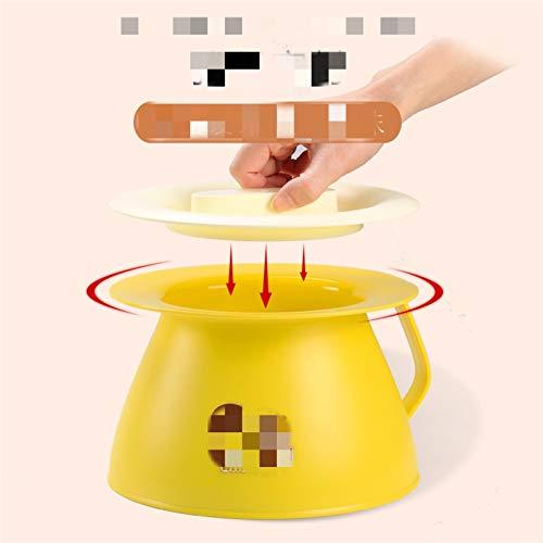 Gu3Je Gute Qualität Potty bebé Entrenamiento Entrenamiento plástico PPT Lindo Inodoro Seguro para niños Entrenador Asiento Asiento asador para niño y niña (Color : Yellow)
