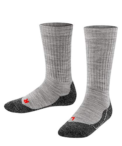 Falke Unisex Kinder Socken, Active Warm K SO -10451, Grau (Mid Grey Melange 3530), 27-30