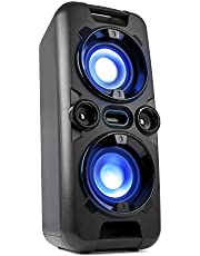 Blaupunkt Party-luidspreker PS 1000, luidspreker met Bluetooth, muzieksysteem met geïntegreerde accu, AUX-IN, FM-PLL-radio, 60W RMS, USB, incl. microfoon, als karaoke-systeem te gebruiken, zwart