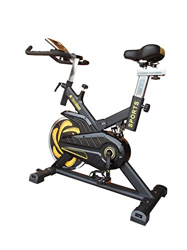 Fitness House Bestia Sports Pro - Bicicleta de Ciclo Indoor, Adultos Unisex, Negro/Oro, M-L