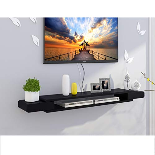 TLMY Wandstandaard TV meubel TV Stand Set Top Box Plank TV Console Opslag Unit Organizer DVD Rack Cable Box Zwart Zwevende Wandmontage TV stand
