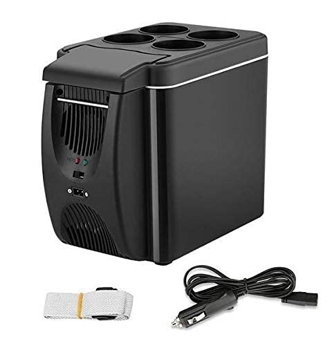 RTRD Mini Coche refrigerador refrigerador Congelador, Calentador 6 litros refrigerador automático refrigerador, refrigerador portátil