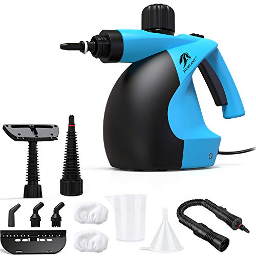 MLMLANT - Limpiador de vapor multiusos, 350 ml, 11 accesorios para eliminar manchas con alfombra, suelo, azulejos, baño, asientos de coche