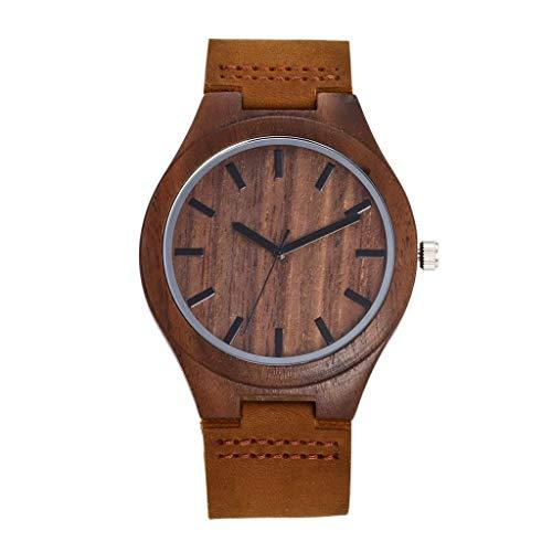 GLEMFOX herenhorloge van hout-natuurlijk Walnut Watch Japan Miyota kwartsuurwerk senior herenhorloge van hout lederen band herengeschenk