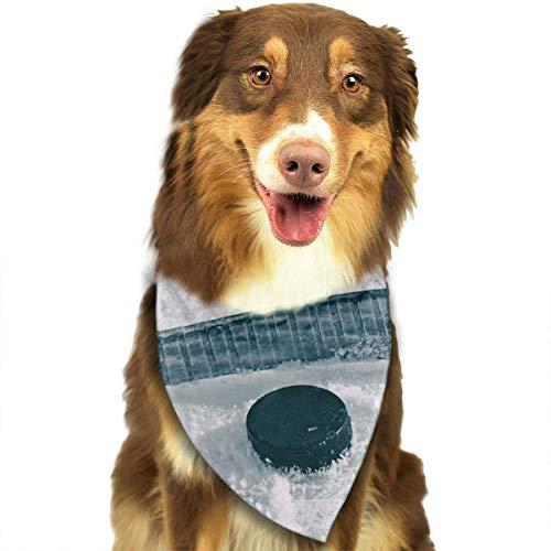iuitt7rtree Halstuch, für Hunde, für Eishockey, Sportliebhaber, waschbar, Dreieck, Halstuch, Zubehör