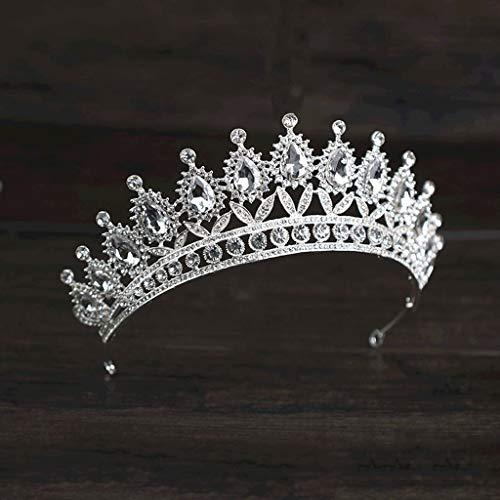 NXYJD Crystal Wedding Bridal Jewelry Tiaras Crown Novia Mujeres Pago Prom Pendientes Pendientes Collar Adornos para el Cabello