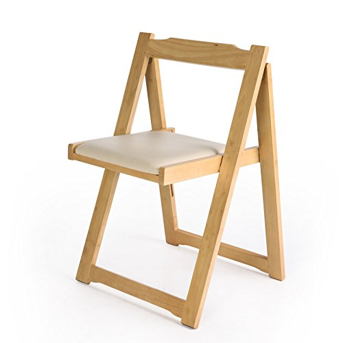 Ménage Bois Simple Folding Dining Chair Fauteuil Low Back Chair Folding Chairs Small Chair (Couleur : B)