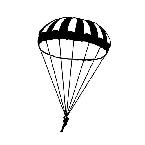 BBTY 11.1 * 17.3cm Skydiver Parachute Extreme Sports Decor Pegatina de Coche Silueta Accesorios de Vinilo C12-0754 (Color Name : Black)