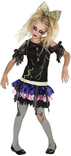 Halloween - Disfraz de Muñeca Zombie para niña, infantil 5-7 años (Rubie