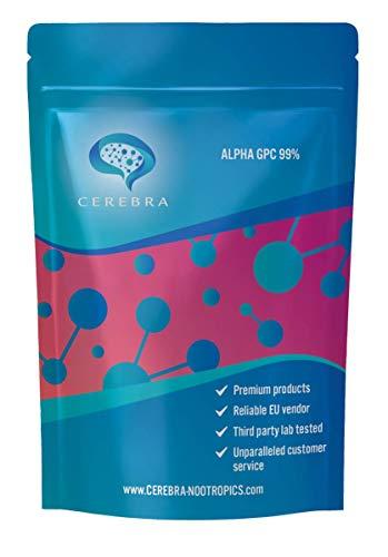 Polvo Alpha Gpc | Suplementos de enfoque | Nootrópicos Cerebra | 99% | 100 Gramo |