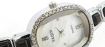 Uhr, Kristall verkrustete Damenuhr Armband Quarzuhr