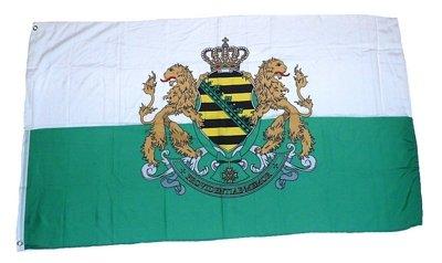 Fahne/Flagge Königreich Sachsen Wappen 90 x 150 cm