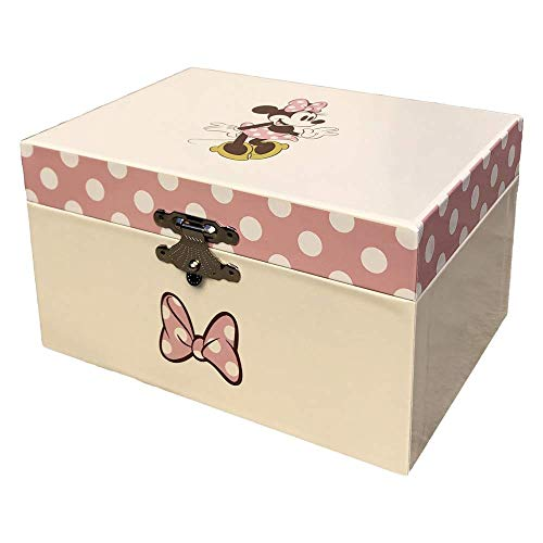 MINNIE MOUSE- Minnie Musical Jewellery Box, Multicolor, One (Kids Licensing WD20323)
