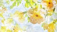Bcbfgfdgbz クロスステッチキット刺繍キット DIY 手作り- 14CT プレプリント刺繡工芸品のフルレンジを初心者向けマルチカラーパターンスターターキット室内装飾40×50cm黄色い花