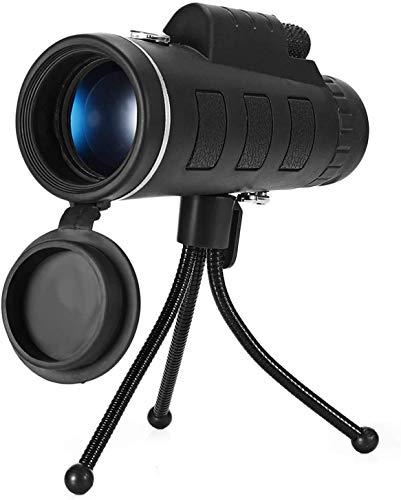 Bierglaks Monocular Starscope Telescope 40X60 Zoom Monocular Telescope Scope Apto para telfono Inteligente Cmara Camping Senderismo Pesca con brjula Clip para telfono Trpode -