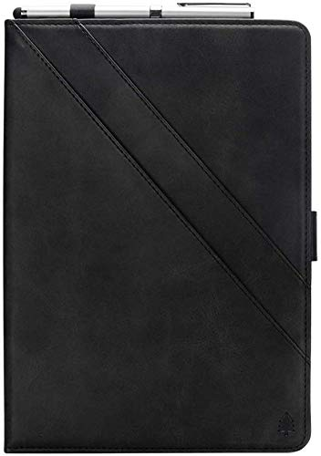 SuneyiPad Air 3 10.5 2019 Cover, Cover with Built-in Pencil Holder,Auto Sleep Wake Function with Card Slots Typing Viewing Stand PU Leather Protective Cover for 2019 iPad Air 3 10.5 inch - Black