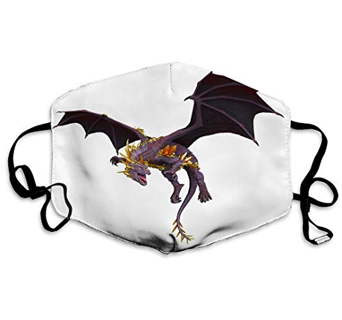 Xunulyn Washable Reusable Safety Mask, Half Face Mouth Mask for Kids Teens d cg Rendering Dragon Dragon Fun