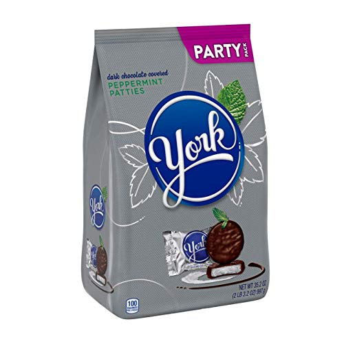 YORK Peppermint Patties Dark Chocolate Candy, Individually Wrapped, 35.2 oz Party Bag