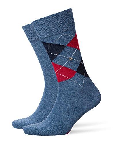 Burlington Herren Socken, Everyday Mix M SO, 2 Paar, Blau (Light Denim 6660), 40-46