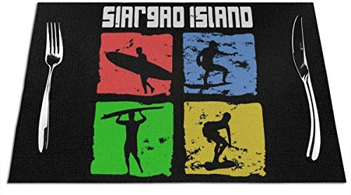 Siargao Island Surfer Manteles individuales Manteles resistentes al calor, a las manchas, antideslizantes y lavables para la mesa de la cocina