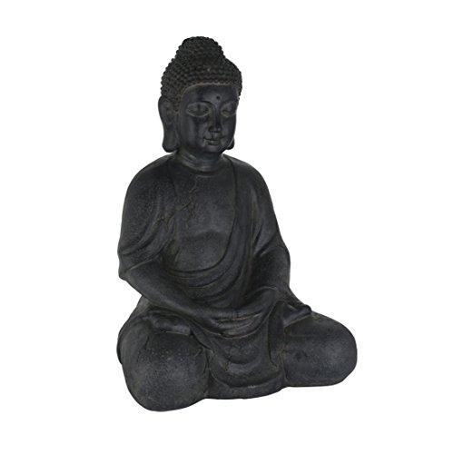 greemotion 124237 Buddha Dekofigur, 30 x 25 x 44 cm, schwarz