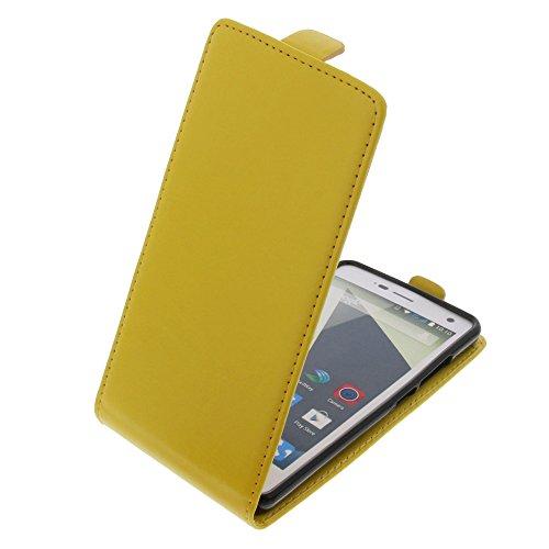 foto-kontor Tasche für ZTE Blade L3 Smartphone Flipstyle Schutz Hülle gelb