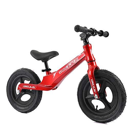 MEETGG Bicicleta de equilibrio de aleación de magnesio, asiento ajustable sin pedal, bicicleta de entrenamiento deportivo ligero para niños
