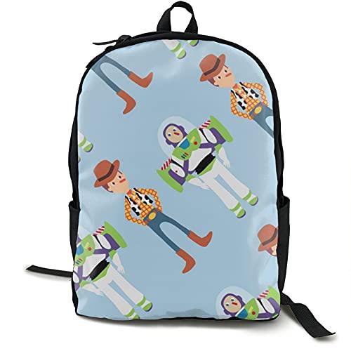 Mochila ligera unisex de Toy Story Mochila de escuela resistente al agua, para portátil de 15 pulgadas, para niños, niñas, hombres y mujeres