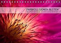 FARBKOLLISIONEN /BLUeTEN (Tischkalender 2022 DIN A5 quer): DIE FARBEN DER NATUR - IN PURER, AUFGELOeSTER ART (Monatskalender, 14 Seiten )