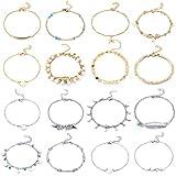 16 Pièces Bracelets de Cheville de Plage Cheville Réglable