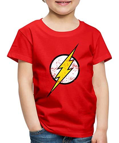 DC Comics Justice League Flash Logo Retro Look Kinder Premium T-Shirt, 122-128, Rot