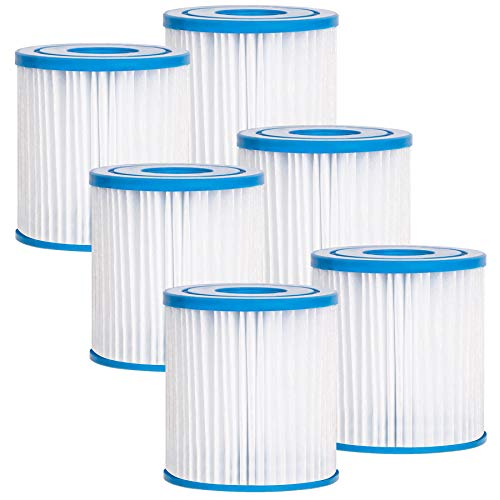 Future Way Type H Pool Filters, Compatible with Intex 330 GPH Above Ground Pool Pump (6 Pack)