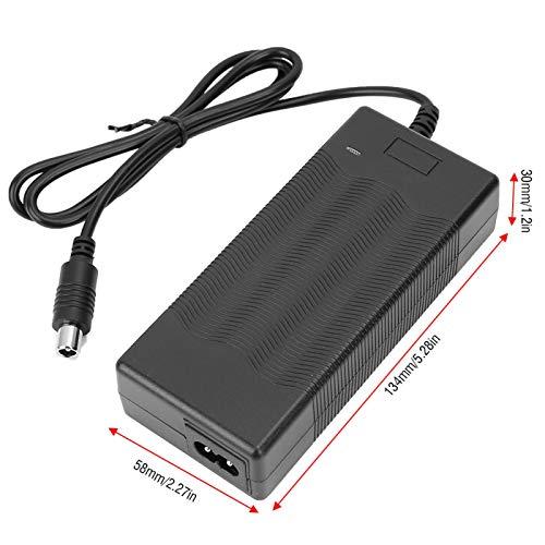 Wosune Cargador de batería, Cargador de Scooter eléctrico, 42V 2A para Amantes de los Scooters Profesionales(British regulations (25A, 220V·))