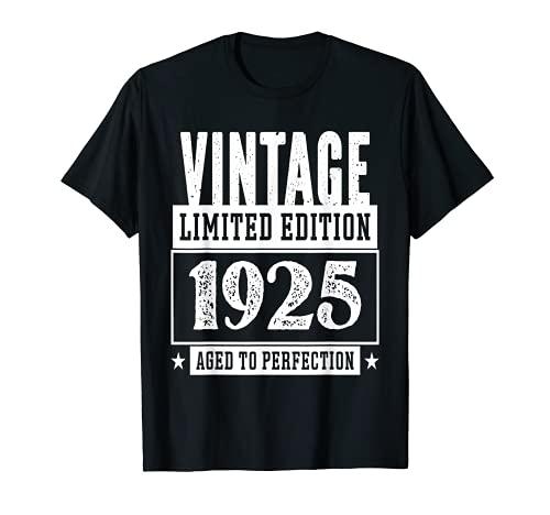 Vintage 1925 Limited Edition Maglietta 96 Anni Compleanno Maglietta